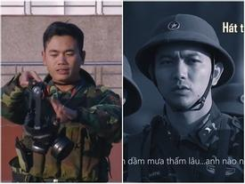 Đang giờ học trong quân ngũ, Tim lẩm bẩm hát 'Em gái mưa' khiến người xem không nhịn nổi cười
