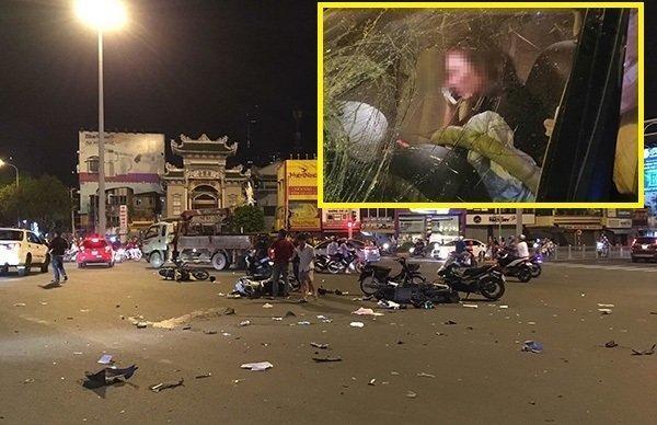Vụ nữ tài xế BMW tông 5 xe máy và những người đàn bà say-1