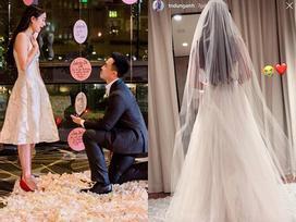 Hotgirl Mie Nguyễn khoe ảnh váy cưới sau gần một tháng được cầu hôn
