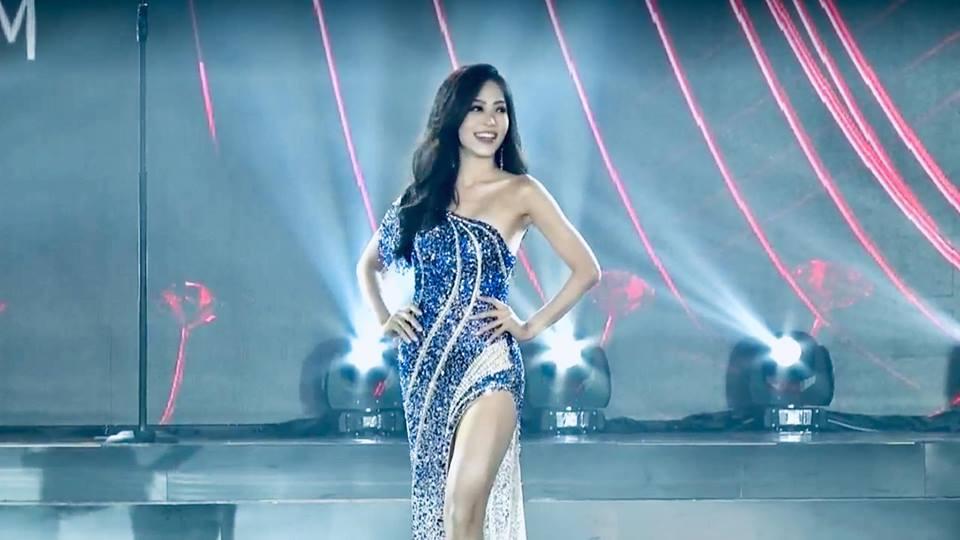Bùi Phương Nga xử lý cực gọn pha xoay người chông chênh trong đêm bán kết Miss Grand 2018-5