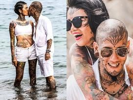 Cặp đôi Sài thành gây sốt với bộ sưu tập hình xăm kín đặc trên người