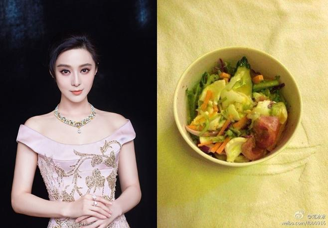 Tận mắt nhìn bữa ăn kham khổ của mỹ nhân Hoa ngữ mới thấy làm ngôi sao quả không dễ dàng-1