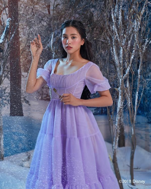 Hoa hậu Tiểu Vy hóa công chúa kiêu sa trong bom tấn mới của Disney-1