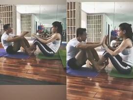 Vừa tuyên bố 'chỉ một mình', Hồ Ngọc Hà lại gây sốt khi khoe clip tập yoga cùng người tình Kim Lý