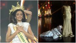 Được xướng tên đăng quang Miss Grand 2018, mỹ nữ Paraguay lăn đùng bất tỉnh nhân sự trên sân khấu