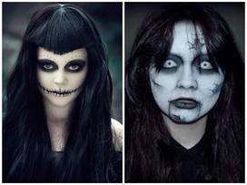 9X Hà Nội hướng dẫn hóa trang mặt nạ da người nhân dịp Halloween