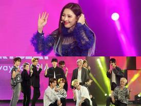 'Gei chúa' Sunmi quyến rũ hết nấc, SEVENTEEN như những vị thần trong đêm nhạc Việt Hàn