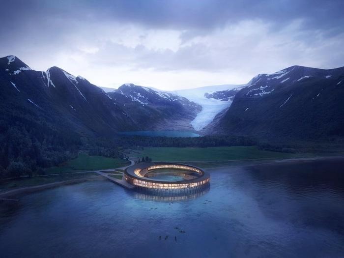 Khách sạn tuyệt đẹp như bước ra từ phim khoa học viễn tưởng ở Na Uy-1