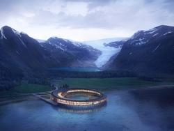 Khách sạn tuyệt đẹp như bước ra từ phim khoa học viễn tưởng ở Na Uy