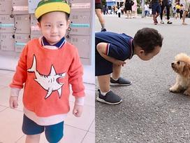 Ly Kute đốn tim fans với loạt khoảnh khắc khoe con trai như hot boy Hàn Quốc