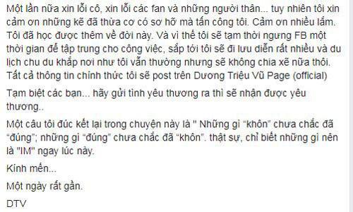 Dương Triệu Vũ xin lỗi danh ca Phương Dung sau ồn ào-3