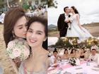 Chị gái Ngọc Trinh và bạn trai kém tuổi tổ chức hôn lễ đẹp như mơ trên bãi biển