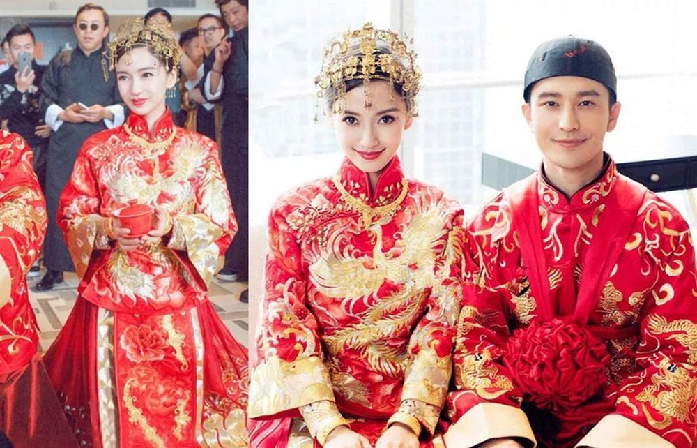 Trang phục cưới truyền thống của mỹ nhân Hoa ngữ: Angela Baby siêu đắt đỏ, Lưu Thi Thi cầu kì tỉ mỉ-4