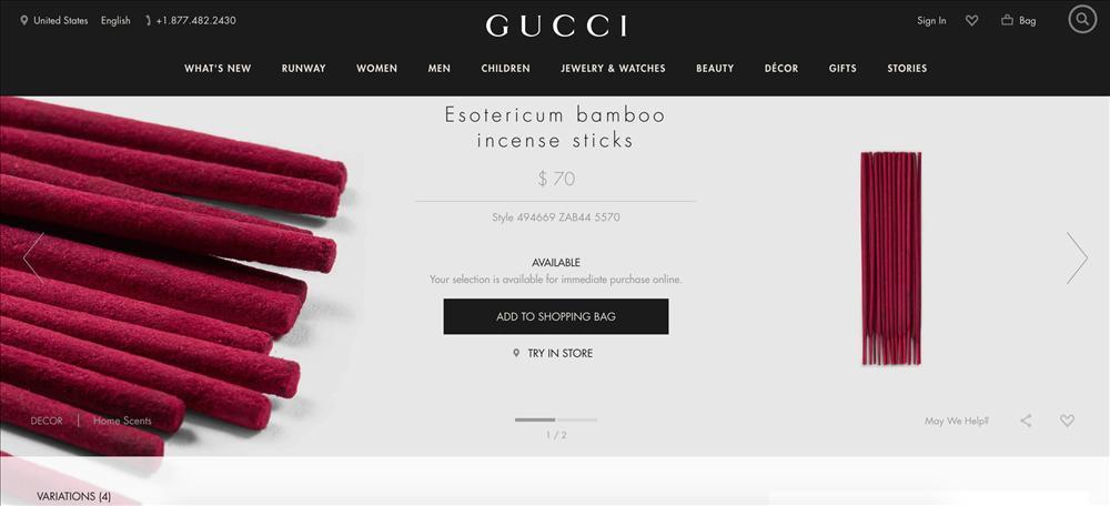 Gucci ra mắt sản phẩm hương đốt sang chảnh mà dân tình cứ đem so sánh với nhang cho người chết-1