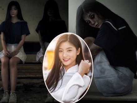 Quán quân 'Miss Teen 2017' khiến người xem 'hồn bay phách lạc' khi hóa trang thành ma nữ mùa Halloween