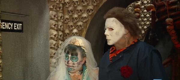 Cặp đôi hóa trang rùng rợn kết hôn tại nhà ma khiếp vía nhất nước Mỹ-4
