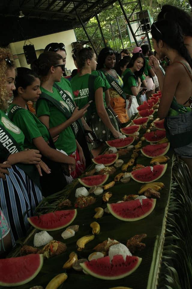 TIN ĐƯỢC KHÔNG: Thí sinh dự thi Hoa hậu Trái Đất mà ăn uống bốc tay phát gớm chẳng khác nào dân tị nạn-1
