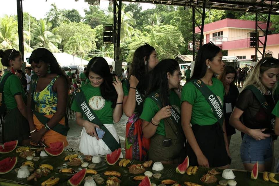 TIN ĐƯỢC KHÔNG: Thí sinh dự thi Hoa hậu Trái Đất mà ăn uống bốc tay phát gớm chẳng khác nào dân tị nạn-2