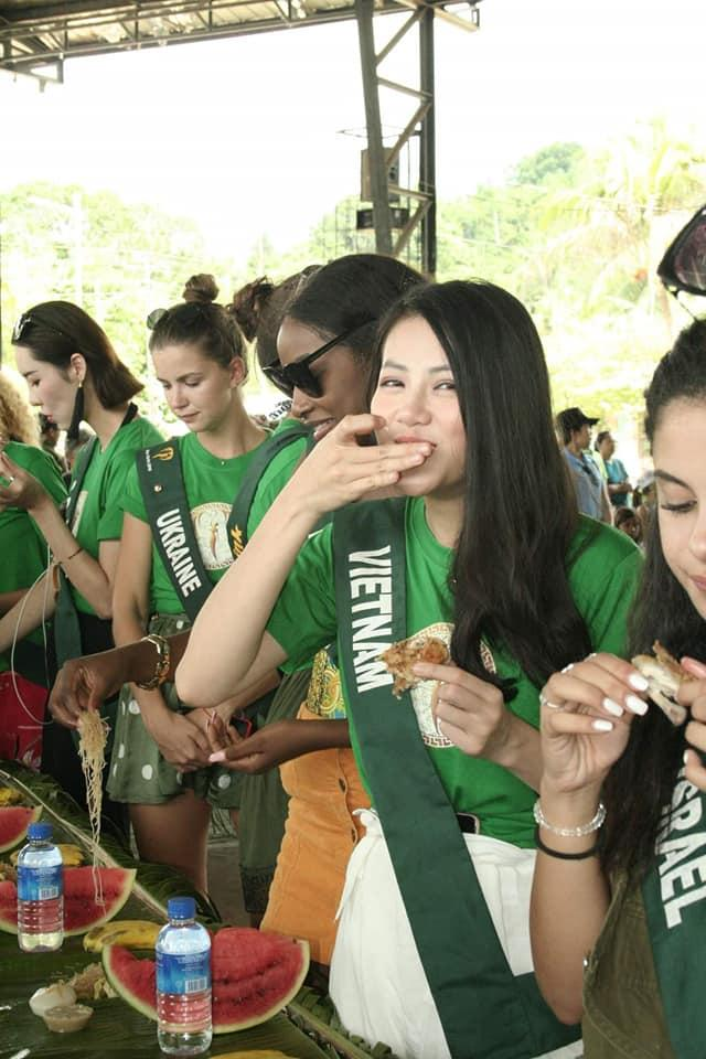 TIN ĐƯỢC KHÔNG: Thí sinh dự thi Hoa hậu Trái Đất mà ăn uống bốc tay phát gớm chẳng khác nào dân tị nạn-4