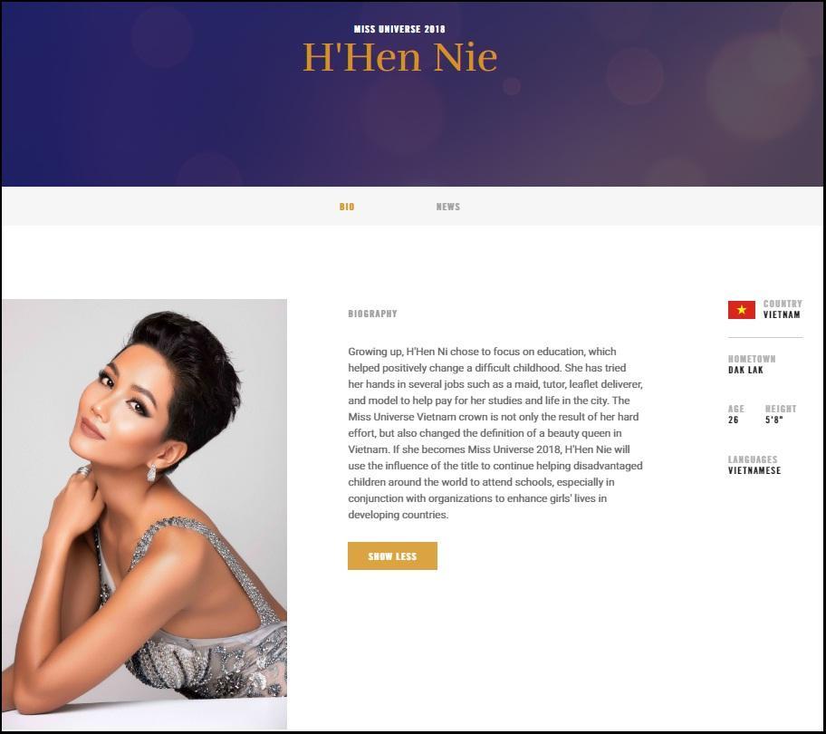 HHen Niê xuất hiện rạng ngời trên trang chủ Miss Universe với mái tóc tém không thể lẫn với ai-2
