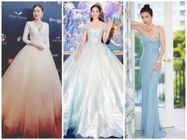 SAO MẶC ĐẸP: Hoa hậu Tiểu Vy hóa công chúa lộng lẫy 'chặt đẹp' hai mỹ nhân đình đám Hoa ngữ