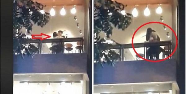 Tiếp tục lan truyền clip đôi nam nữ vô tư diễn cảnh nóng tại ban công quán trà sữa ở Hà Nội-5