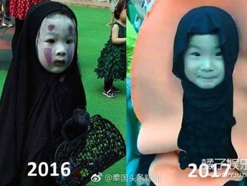 Cô giáo bá đạo đeo mặt nạ hù khiến cậu bé ngồi ăn thun thút, ánh mặt đầy sợ sệt khiến dân mạng phì cười-1