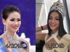 Giật mình trước nhan sắc thay đổi chóng mặt của Tân Hoa hậu Trái Đất chỉ sau nửa năm!
