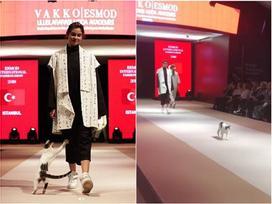Người mẫu bị 'tấn công' trên sàn catwalk ở Thổ Nhĩ Kỳ nhưng không ai nỡ đuổi thủ phạm