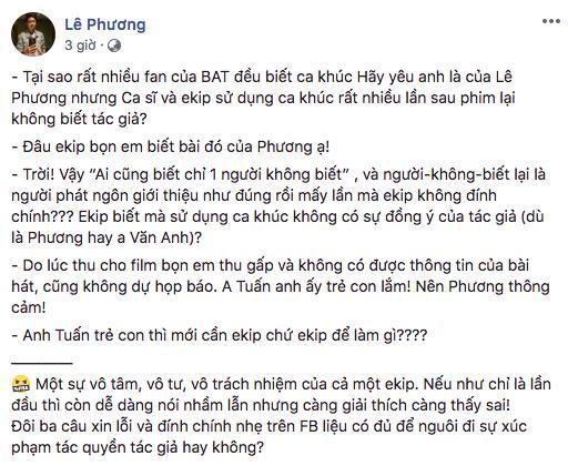 Bùi Anh Tuấn xin lỗi vì lấy ca khúc đi hát chùa nhưng nhạc sĩ không chấp nhận-3