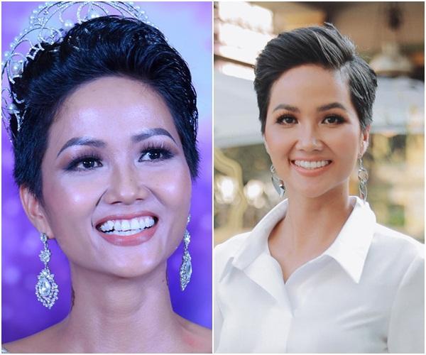 Trước ngày chinh chiến Miss Universe 2018, HHen Niê sung sướng khoe hàm răng khểnh nay đã đều tăm tắp-4