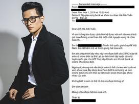 Dân mạng tìm kiếm cầu thủ gửi 'tâm thư' xin mua vé cho Hà Anh Tuấn