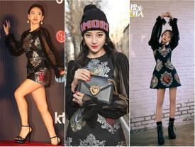 Xén váy ngắn hơn, Nayeon (Twice) vẫn không quyến rũ bằng Địch Lệ Nhiệt Ba và Ngô Cẩn Ngôn