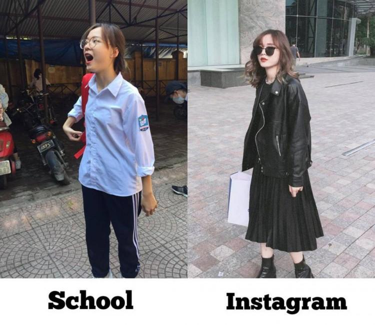 Tìm ra cô bạn trong bức ảnh 'bóc phốt con gái' lúc đi học và khi lên đồ 'thả thính' đang gây sốt-1