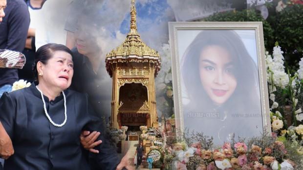 Gia đình, bạn bè khóc ngất trong lễ hỏa táng Á hậu Thái Lan Nursara Suknamai-1