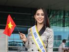 Trần Tiểu Vy xuất hiện xinh như hoa tại sân bay, chính thức lên đường chinh chiến Hoa hậu Thế Giới 2018