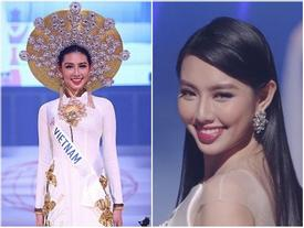 Đại diện Việt Nam Thùy Tiên suýt ngã khi trình diễn quốc phục, trượt top 15 người đẹp nhất Hoa hậu Quốc tế 2018