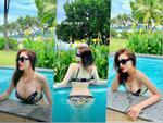 Sau 7 tháng công khai nâng ngực, Kỳ Duyên đăng ảnh bikini với vòng 1 căng như sắp nổ tung