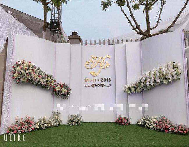 Hé lộ thêm hình ảnh xa hoa về đám cưới rộng 1.000 m2, chi phí trang trí 1 tỷ đồng của cặp trai xinh gái đẹp ở Vĩnh Phúc-4