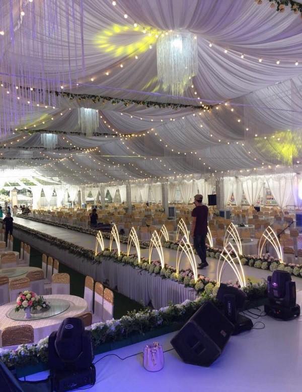 Hé lộ thêm hình ảnh xa hoa về đám cưới rộng 1.000 m2, chi phí trang trí 1 tỷ đồng của cặp trai xinh gái đẹp ở Vĩnh Phúc-3