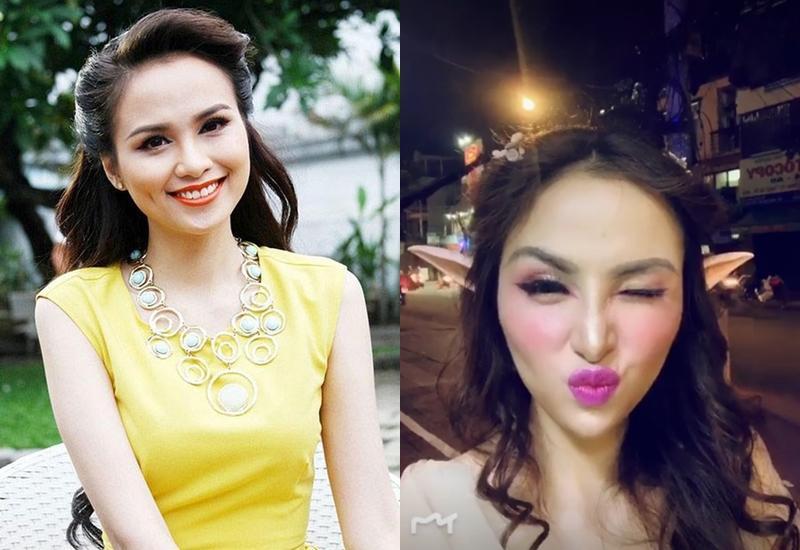 Hoa hậu Diễm Hương gây xôn xao với gương mặt bị nghiệp đoàn mạng nhận xét chẳng khác nào búp bê hư-13