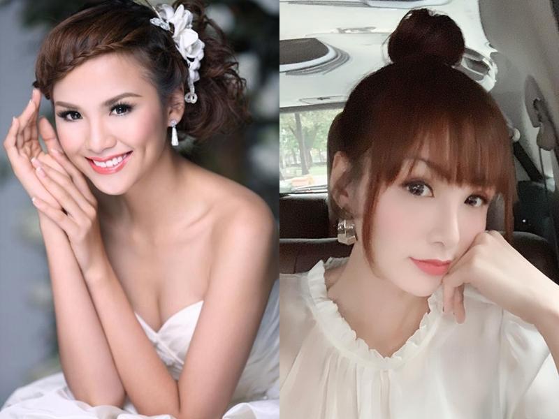 Hoa hậu Diễm Hương gây xôn xao với gương mặt bị nghiệp đoàn mạng nhận xét chẳng khác nào búp bê hư-14