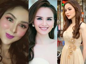 Hoa hậu Diễm Hương gây xôn xao với gương mặt bị nghiệp đoàn mạng nhận xét chẳng khác nào 'búp bê hư'