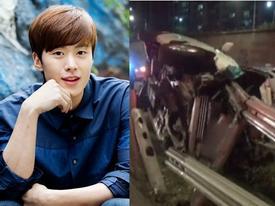 Nam diễn viên 'Cô dâu thuỷ thần' gặp tai nạn, xe ô tô nát vụn
