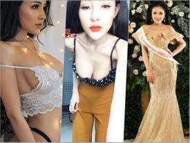 Mặc kệ thân hình xuống cấp, 'thánh nữ ngực đẹp' Ngân 98 vẫn lọt vào chung kết hoa hậu