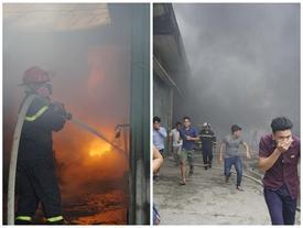 Hà Nội: Cháy lớn kho hàng gần bến xe Nước Ngầm