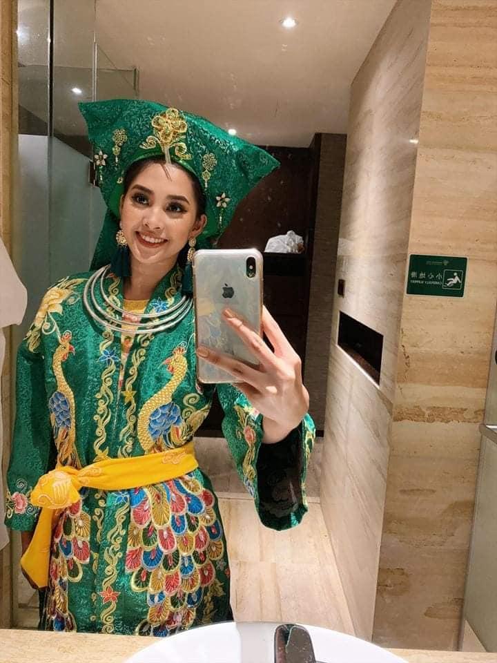 Hoa hậu Tiểu Vy lên đồng với bài múa Cô đôi thượng ngàn trong phần thi Dance of the World-2