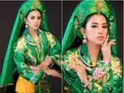 Hoa hậu Tiểu Vy 'lên đồng' với bài múa 'Cô đôi thượng ngàn' trong phần thi Dance of the World