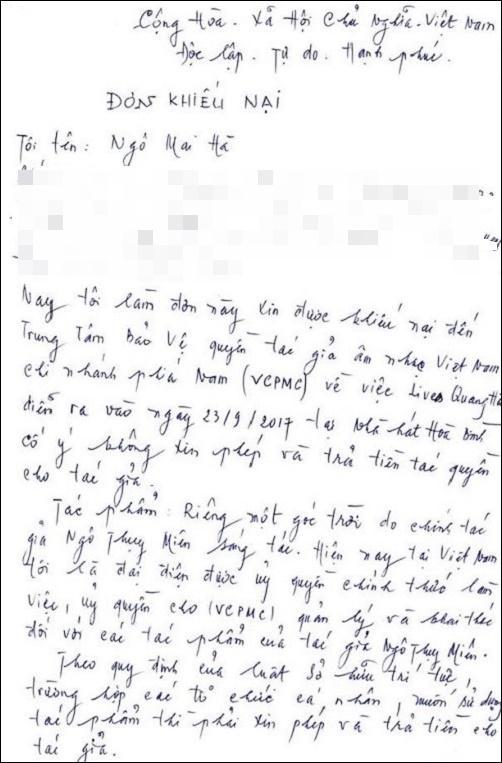 Quang Hà bị vợ cố nhạc sĩ Y Vân và nhiều người khiếu kiện vi phạm tác quyền-4