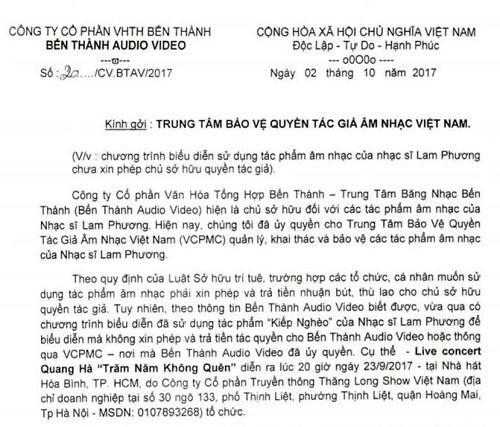 Quang Hà bị vợ cố nhạc sĩ Y Vân và nhiều người khiếu kiện vi phạm tác quyền-6